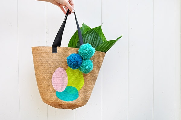 Painted Circle Tote