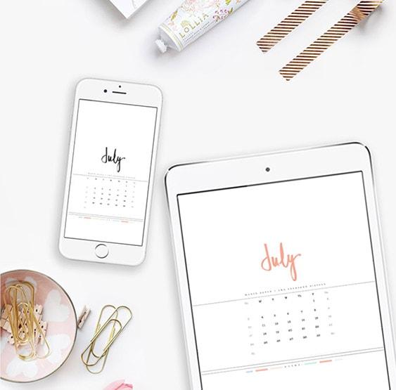 1 2016 JULY Digital Calendars