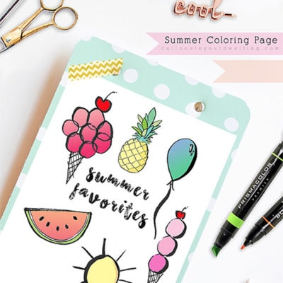 1 Coloring Page Summer Favorites