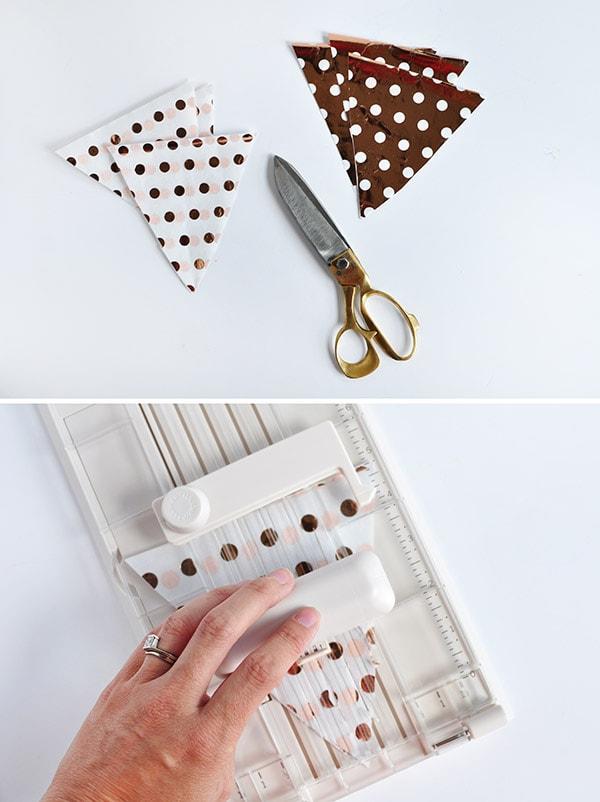 DIY Fringed Tissue Paper Banner