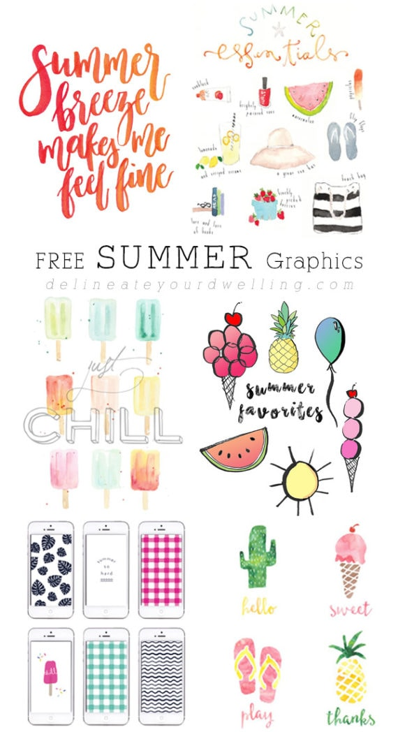Free Summer Graphic Prints, Delineate Your Dwelling