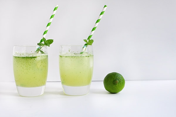 Lime Apricot Mint Freeze