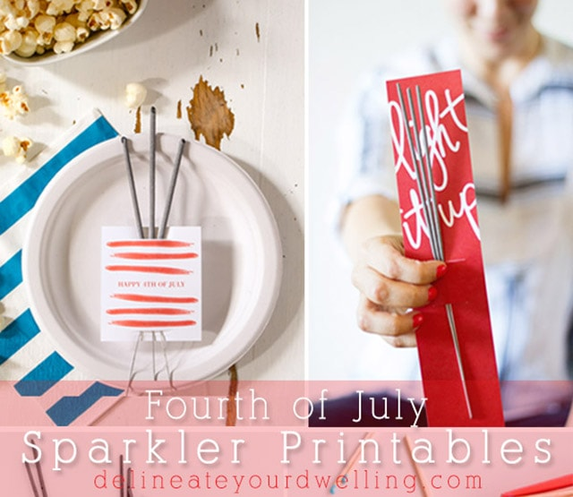 1Fourth of July Sparkler Printable