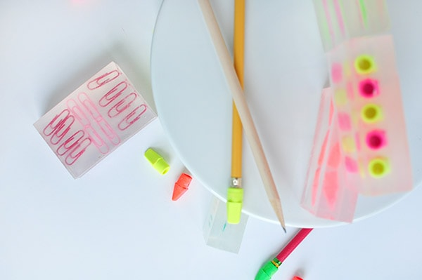 Back to School Soap paper clips