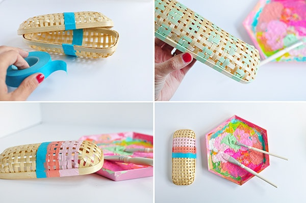DIY Rattan Pencil Case steps
