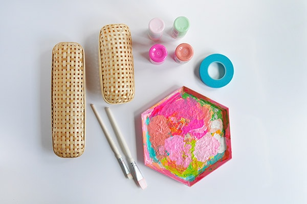 DIY Rattan Pencil Case supplies