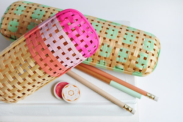 DIY Rattan Pencil Cases