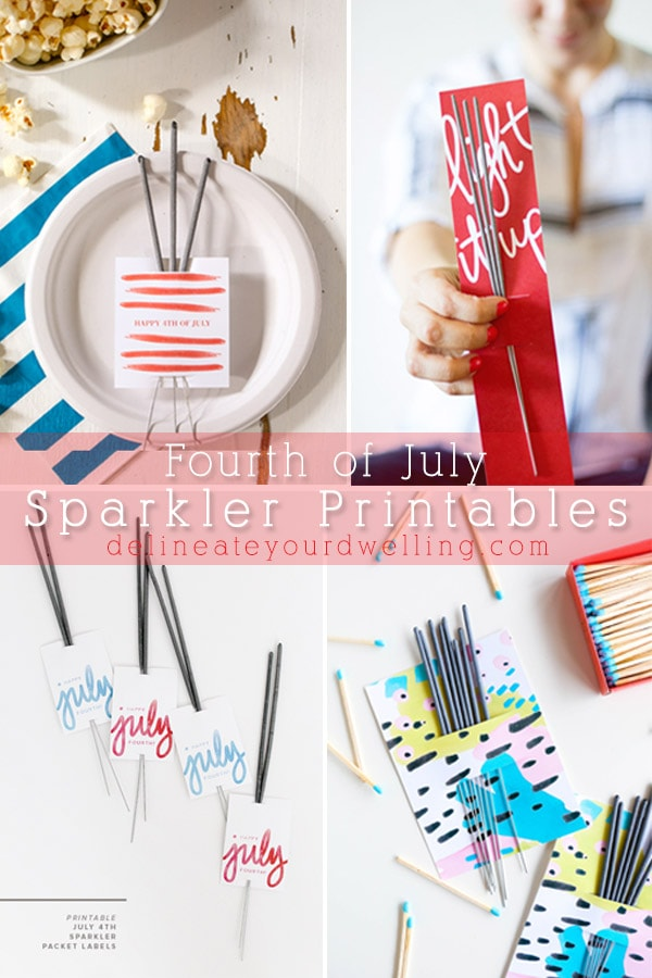 Fourth of July Sparkler Printable, Delineate Your Dwelling