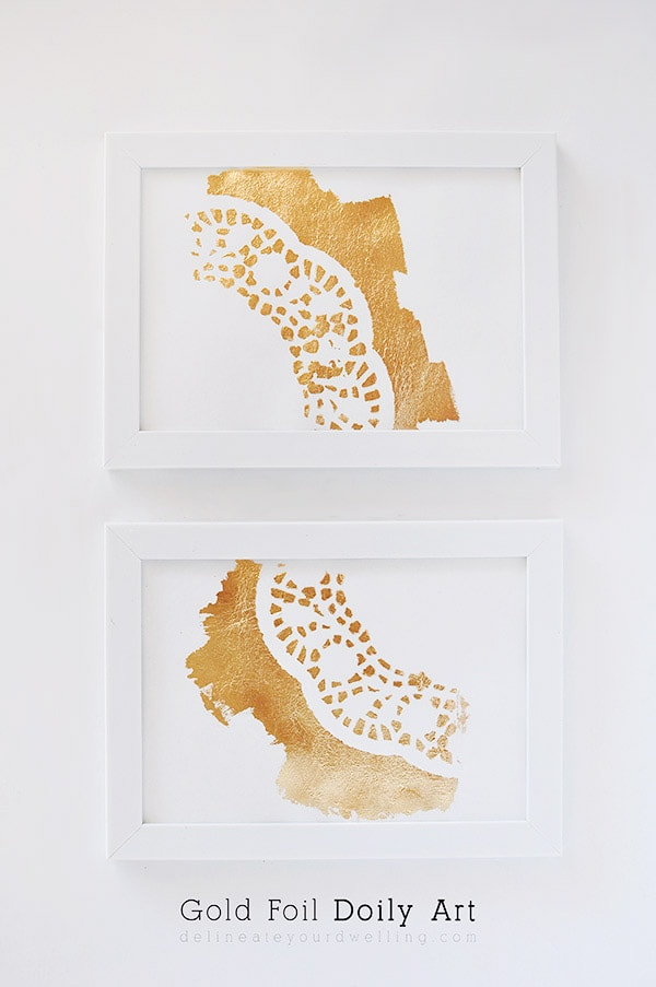 Gold-Foil-Doily-Art, Delineate Your Dwelling