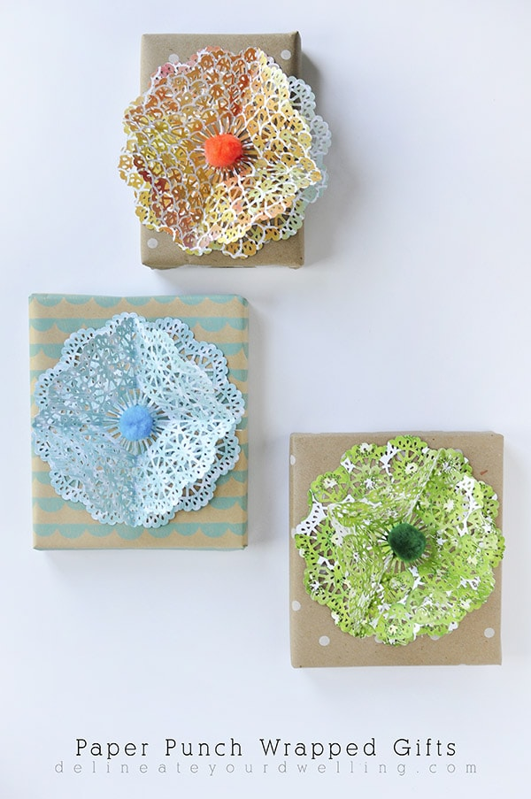 DIY Paper Punch Wrapped Gifts, Delineate Your Dwelling