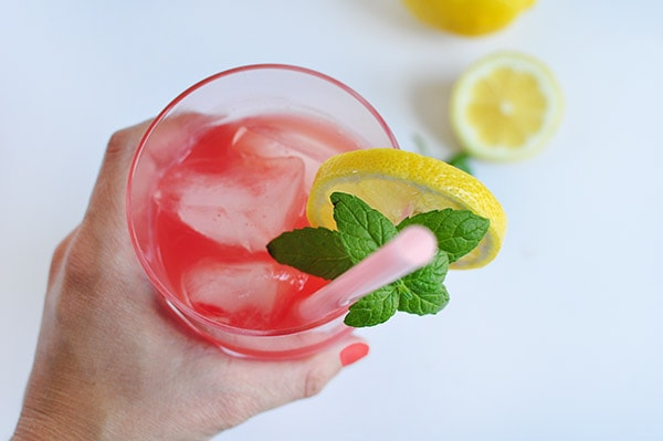 Refreshing Watermelon Lemonade glass
