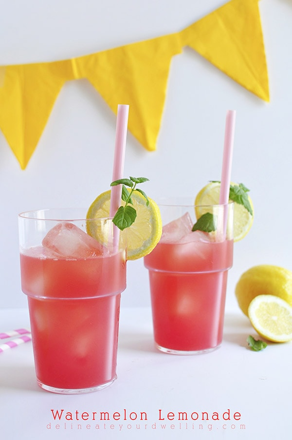 Refreshing Watermelon Lemonade recipe, Delineate Your Dwelling