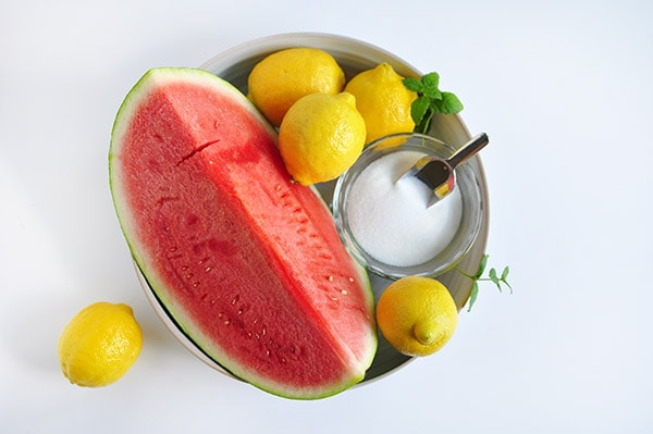 Watermelon Lemonade Ingredients