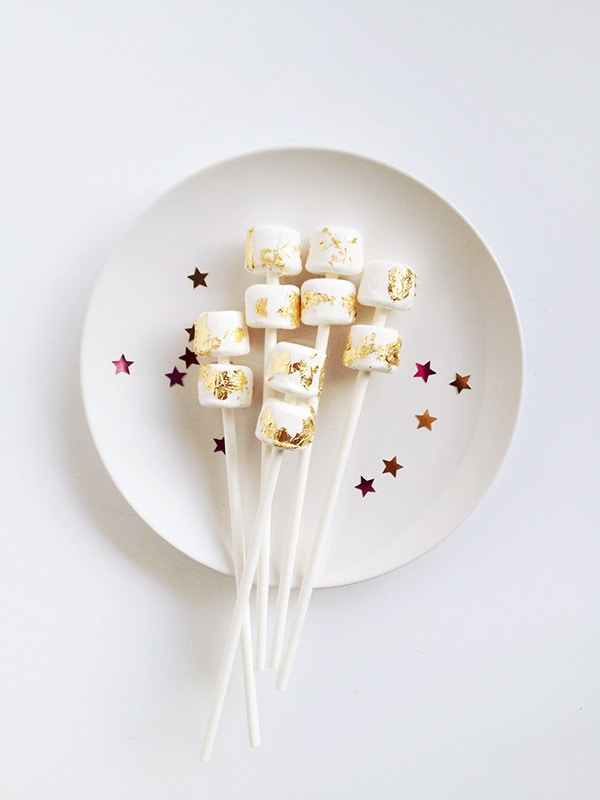 Gold Leaf Marshmallow Pops