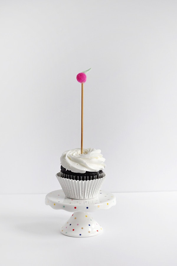 Apple Cupcake Topper single