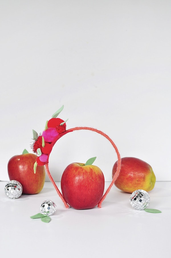 Apple Pom Pom Headband