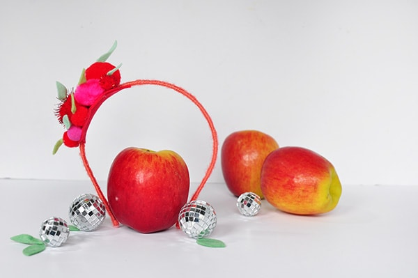 Apple Pom Pom Headband 2