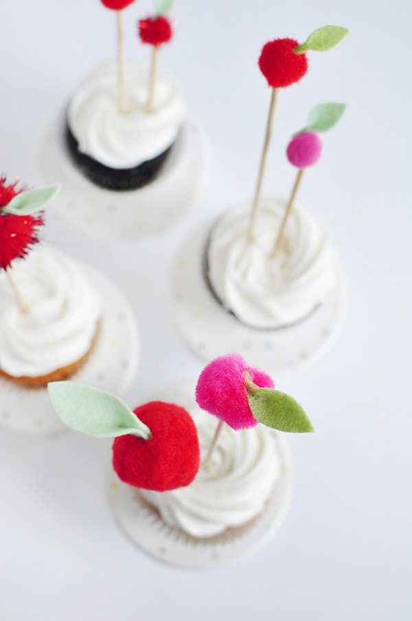 Cupcake Apple Toppers