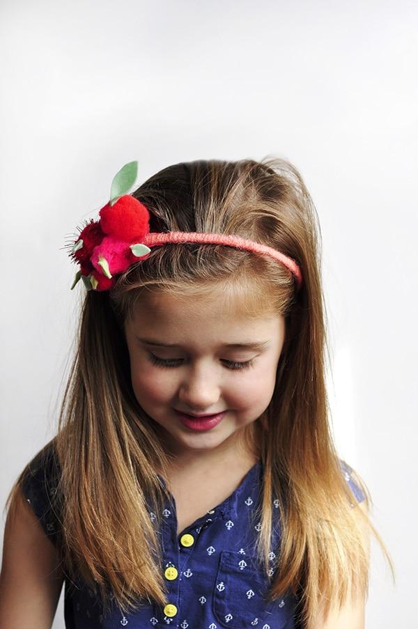 DIY Apple Pom Pom Headband, Delineate Your Dwelling