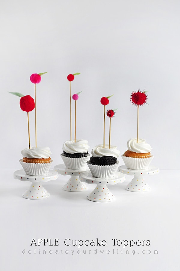 DIY Craft, Apple Topper Cupcakes - Delineate Your Dwelling