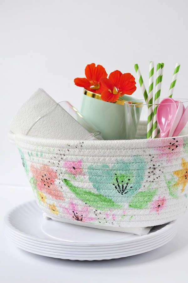 DIY Watercolor Basket, Delineate Your Dwelling
