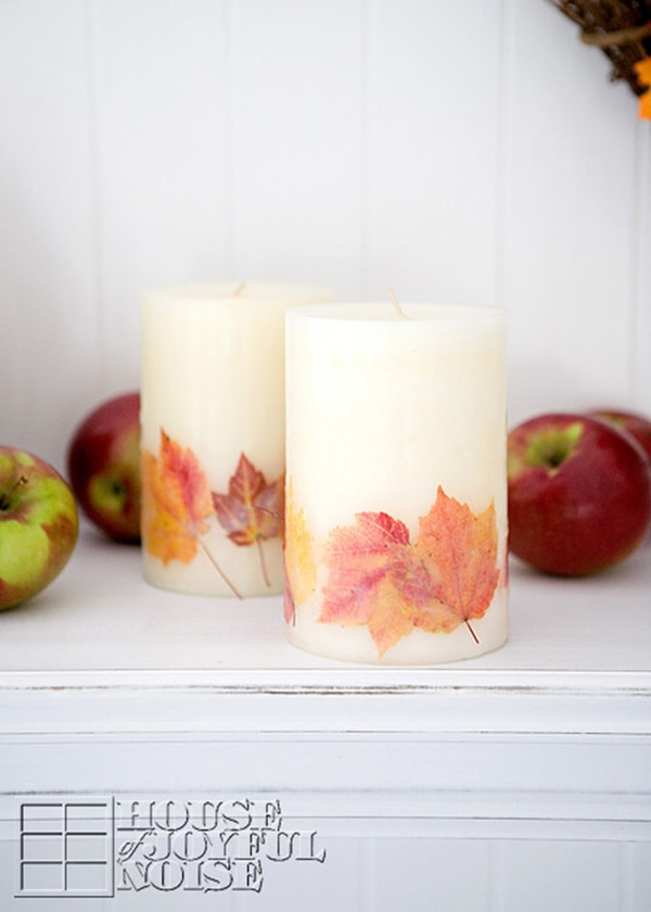 Fall-themed-candles-embedding-real-leaf