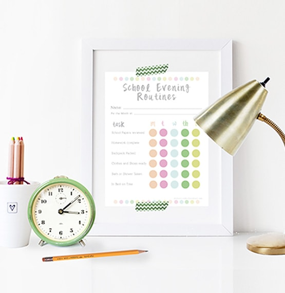 1 School Evening Routine Chart