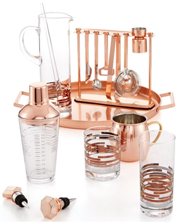 Macy's copper-barware