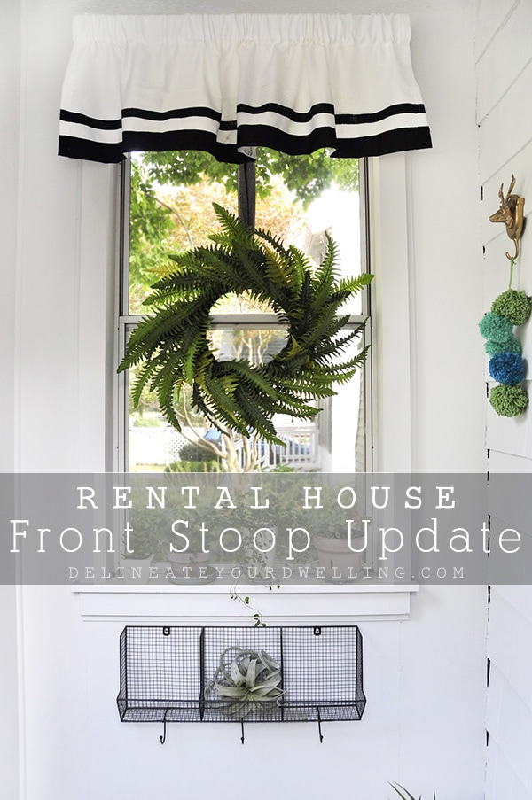 Rental House Front Stoop simple Updates, Delineate Your Dwelling
