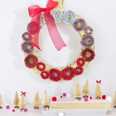Fun and Festive Ombre Christmas Wreath