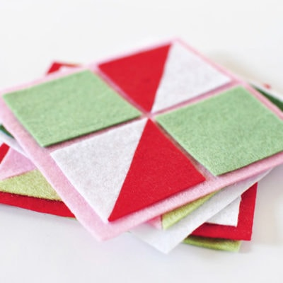 Geometric Felt Party Coasters