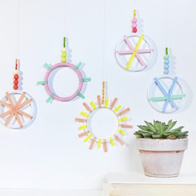 Mini Washi Tape Wreaths