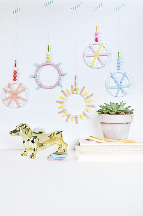 DIY Mini Washi Tape Wreaths, Delineate Your Dwelling
