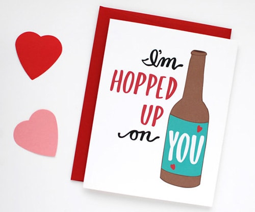 Hopped up on you, Valentine's Day Card