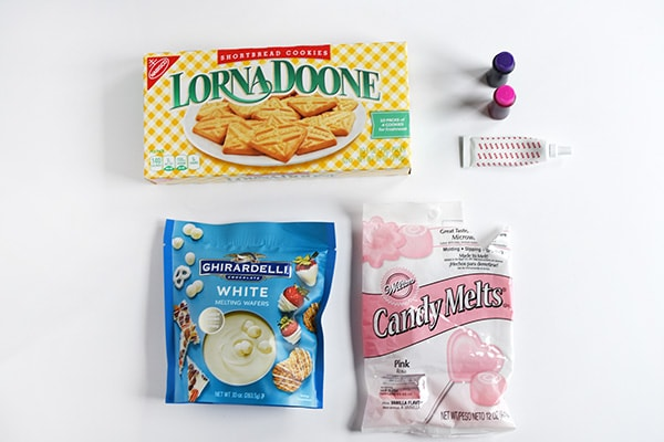 Marbled Valentine Cookies supplies