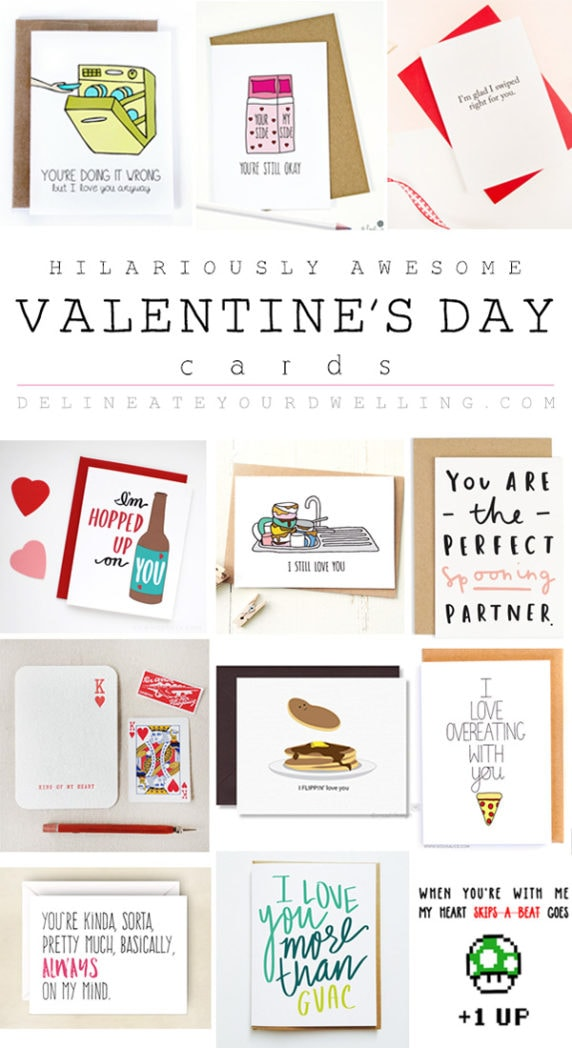 Valentine's Day Card Roundup, Delineate Your Dwelling