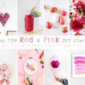 1 top Red + Pink DIY crafts
