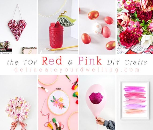 1 top Red + Pink DIY crafts