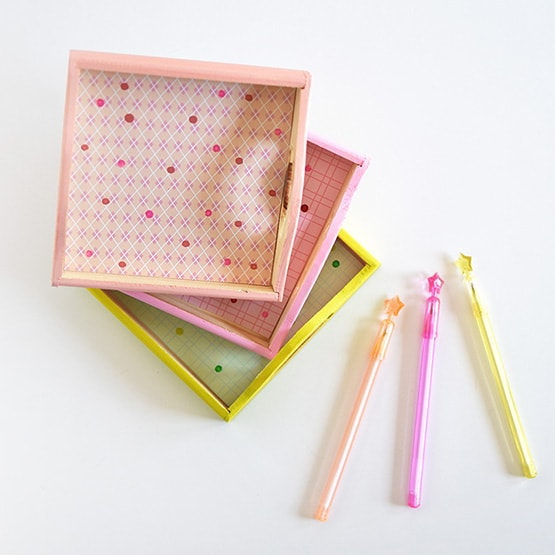 1a Colorfully Painted Office Trays