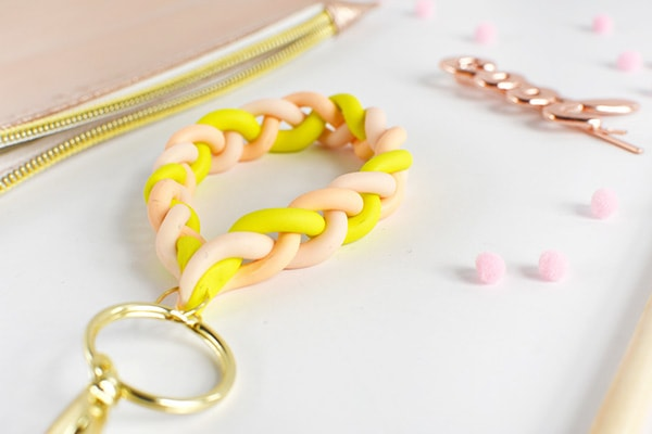 Create a simple DIY Clay Braided Keychain, Delineate Your Dwelling