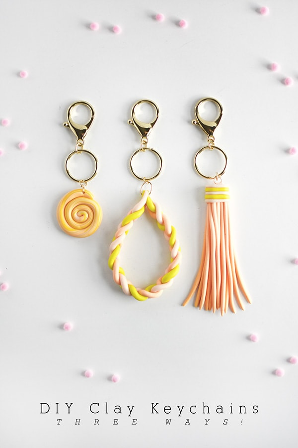 Clay DIY Keychains 3 different ways, Delineate Your Dwelling