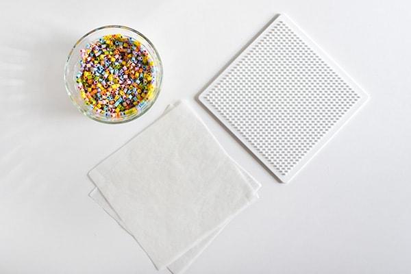Perler Bead Coaster supplies