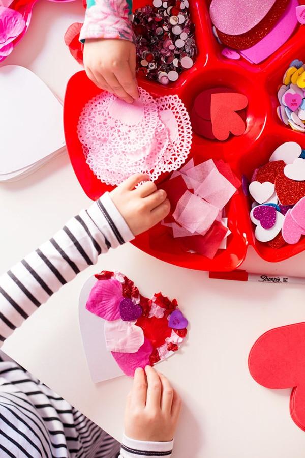 Red kids-handmade-valentine-cards-ideas-2