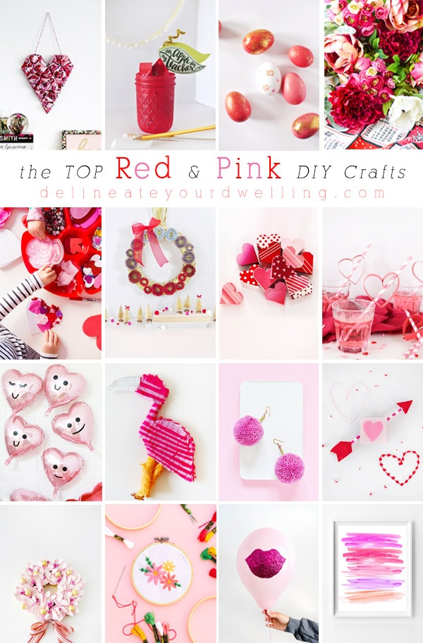 The top Red and Pink DIY craft projects! Delineate Your Dwelling