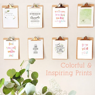 1 Colorful Inspiring Prints