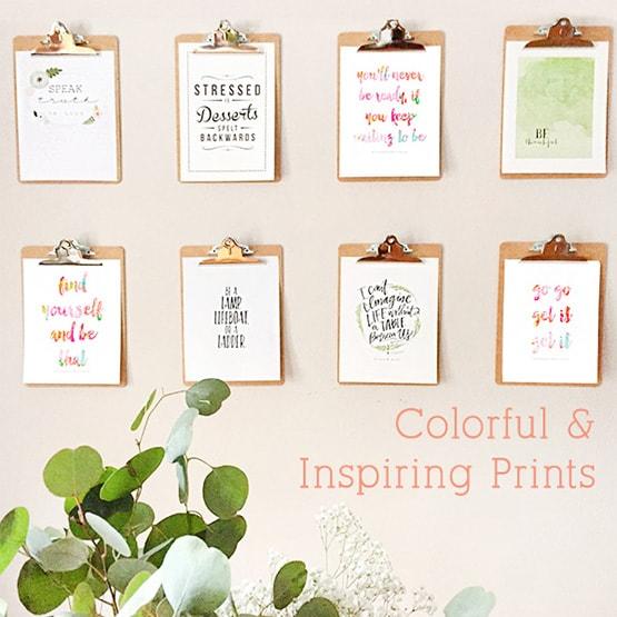 1 Colorful Inspiring Prints