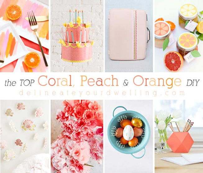 1 Coral, Peach + Orange DIY crafts