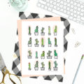 1 FREE PRINTABLE Cactus Print