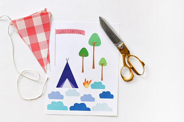 Crafting Steps Camping themed Birthday Cake supplies