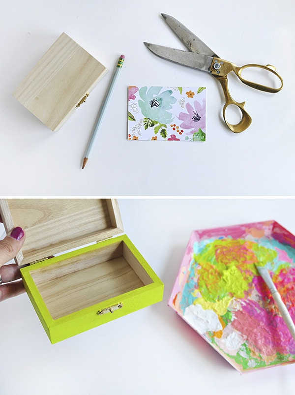 Crafting Steps DIY Floral Painted Box Steps